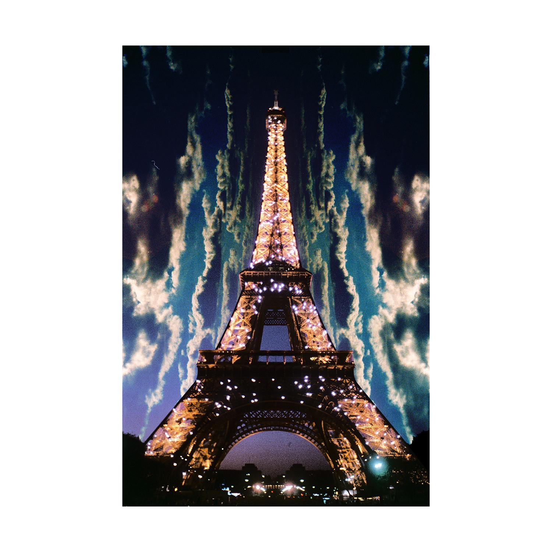 Midnight In Paris 24 L X 16 H Urban Neon Touch Of Modern