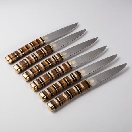 Modern Kitchen Knives florentine kitchen knives - handmade steak knives - touch of modern