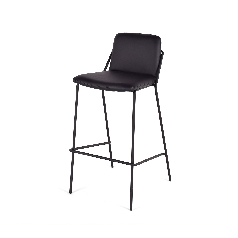 Sling Bar Stool Walnut Black M A D Furniture