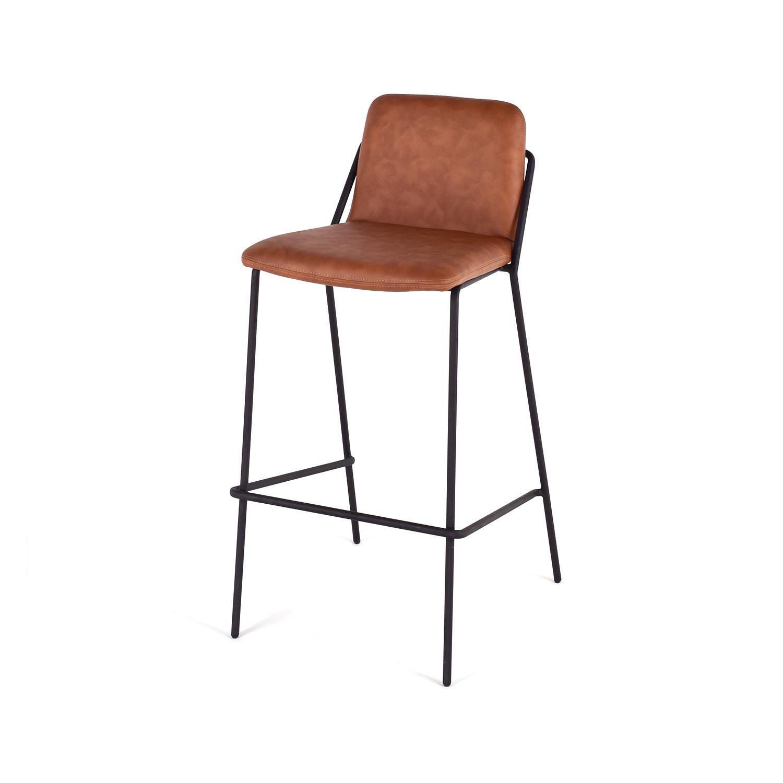 Sling Bar Stools Sling Bar Stool Walnut Black M A D Furniture