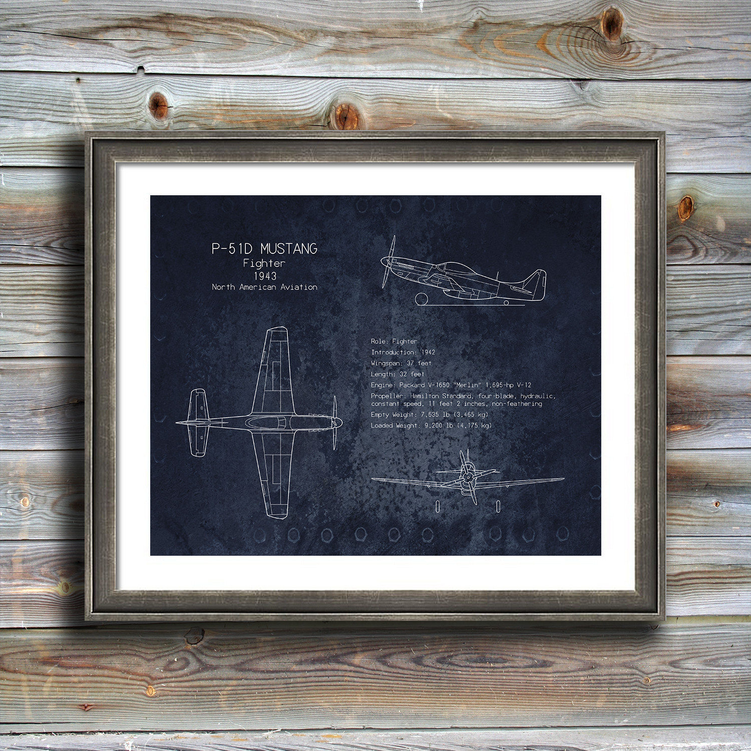 P 51 mustang blueprint scarlet blvd touch of modern p 51 mustang blueprint malvernweather Gallery