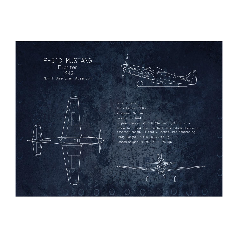 P 51 Mustang Blueprint