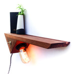 Catch-All Edison Lamp Floating Shelf