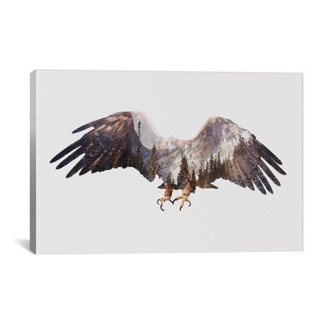 """Arctic Eagle // Andreas Lie (26""""W x 18""""H x 0.75""""D)"""