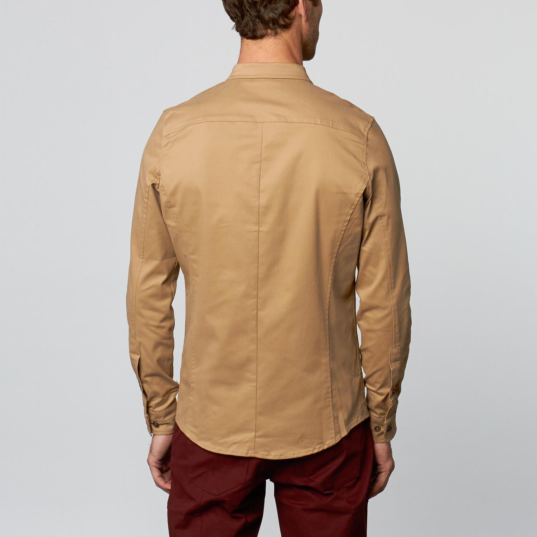 Opnk Benson Button Up Shirt New Khaki L Last
