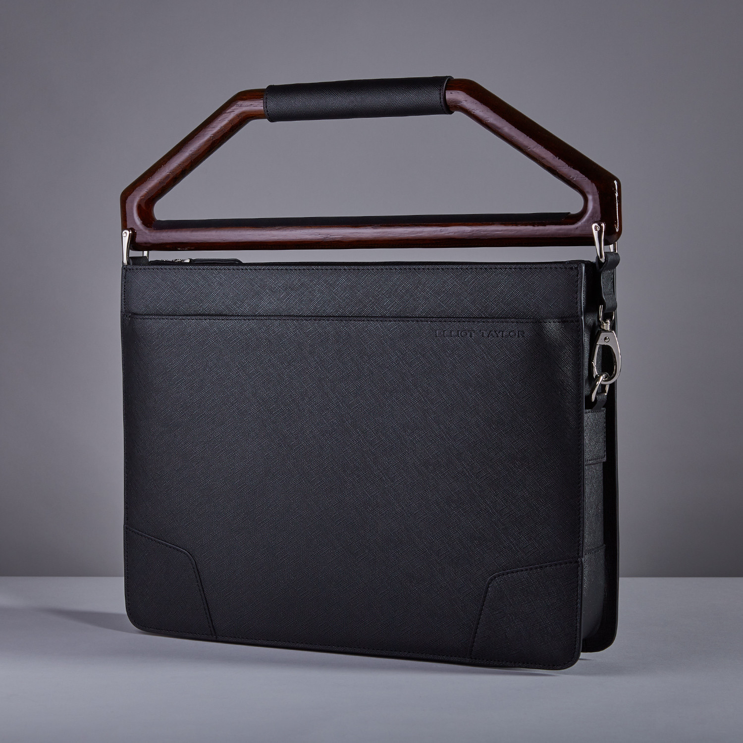 elliot taylor ny briefcase  hudson red handle  elliot taylor ny  - elliot taylor ny briefcase  hudson red handle