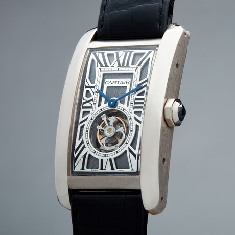 Cartier Tank Americaine Flying Tourbillon Manual Wind // W2620007 // Pre-Owned