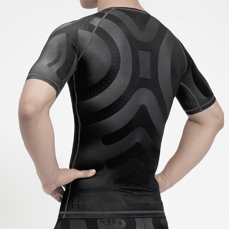 Men's Short Sleeve Compression Tee (M) - Menswear ...
