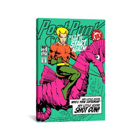 """Post // Punk Aqua (18""""W x 26""""H x 0.75""""D)"""