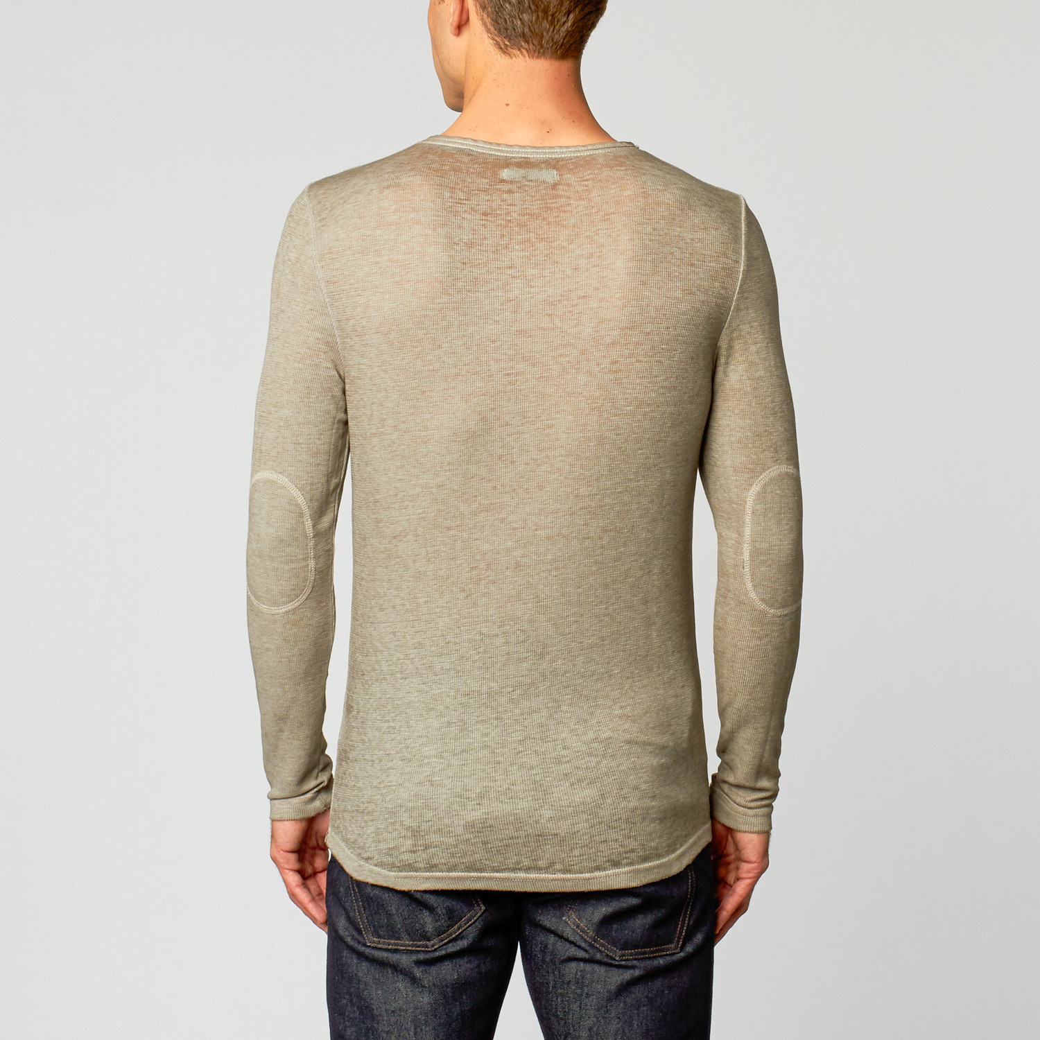 Burnout Long Sleeve Henley Light Grey S Royal Knights Co Touc
