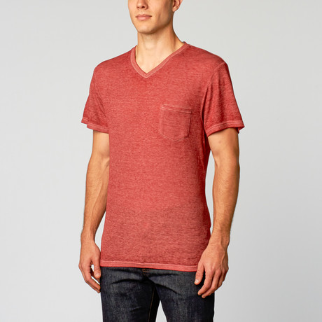 Royal Knights & Co. // Burnout V-Neck // Red (XL)