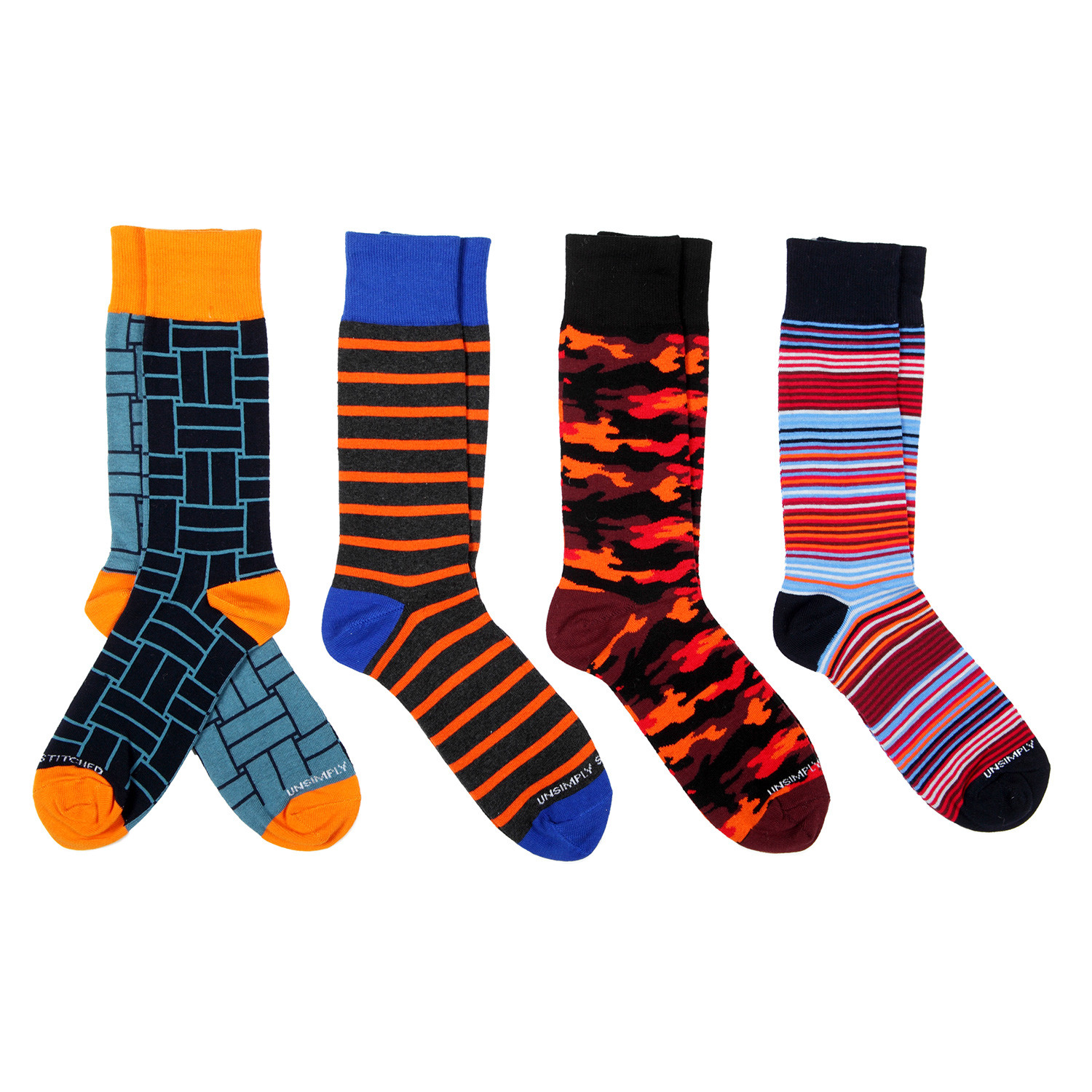 Dress socks stripe mix pack of 4 unsimply stitched touch of