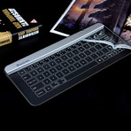Glass Touch Smart Keyboard // Bluetooth (Silver + Dark Grey)