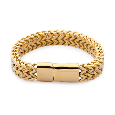 Armour Double Steel Bracelet // Gold