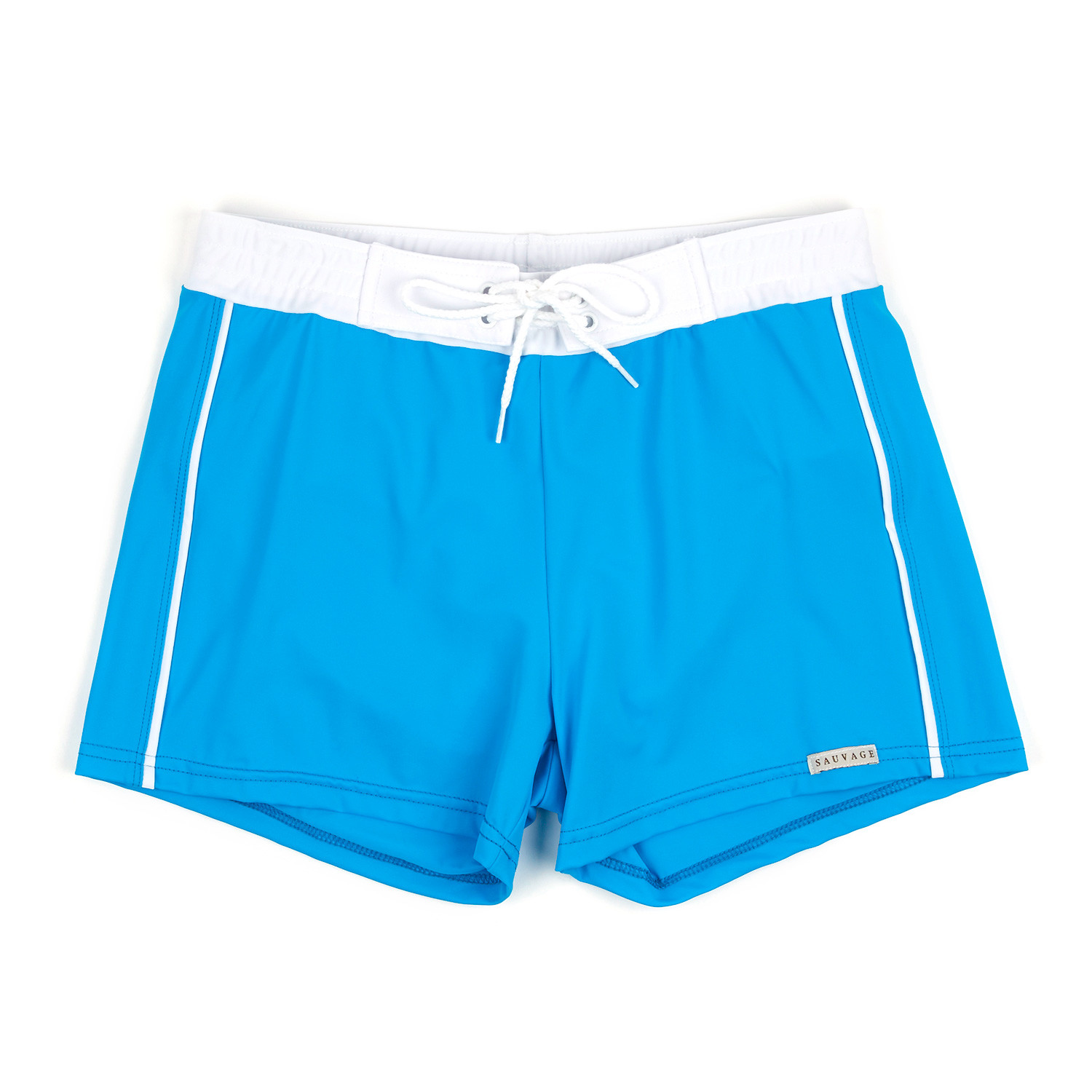 d192a3edf1 Banded Swim Short // Turquoise (S) - Sauvage Swimwear - Touch of Modern