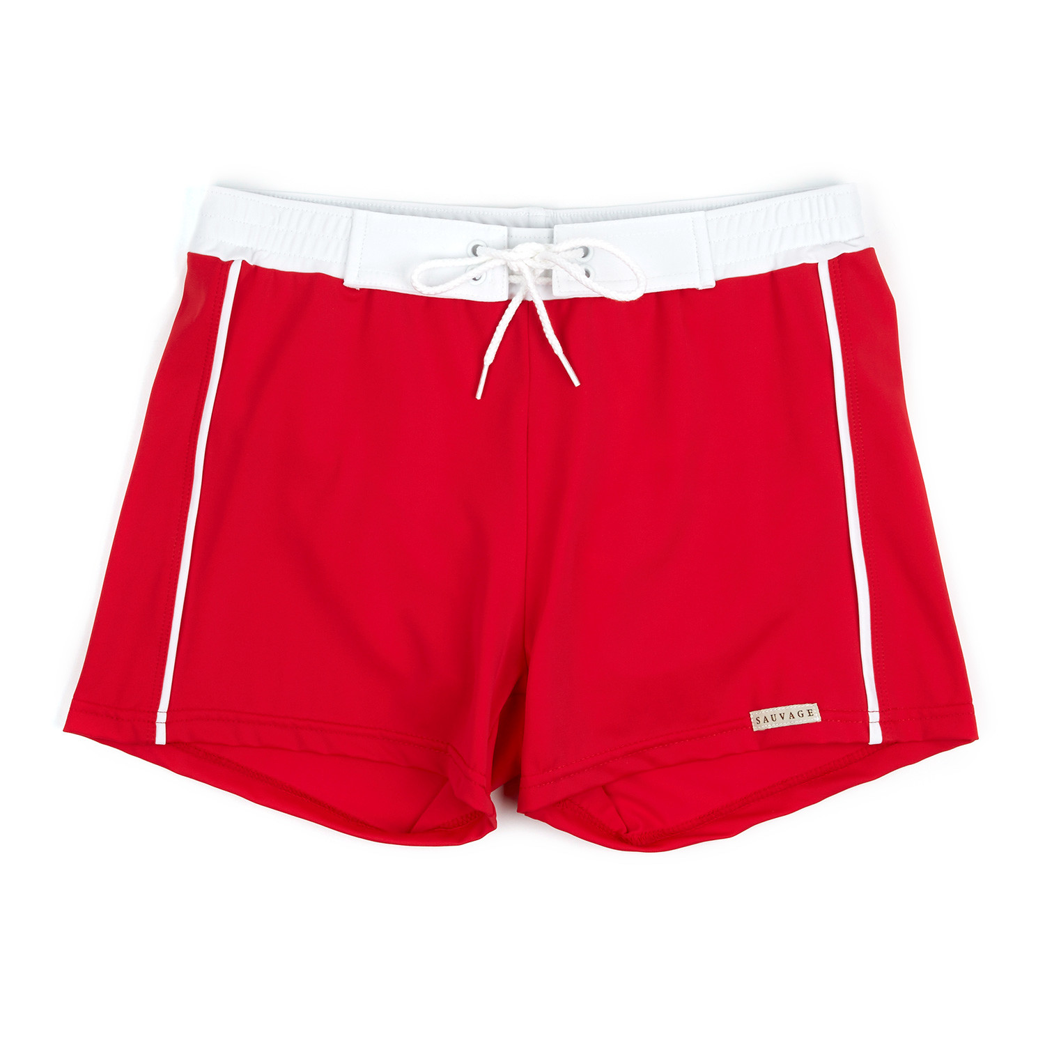 ba558b776f Banded Swim Short // Red (L) - Sauvage Swimwear - Touch of Modern