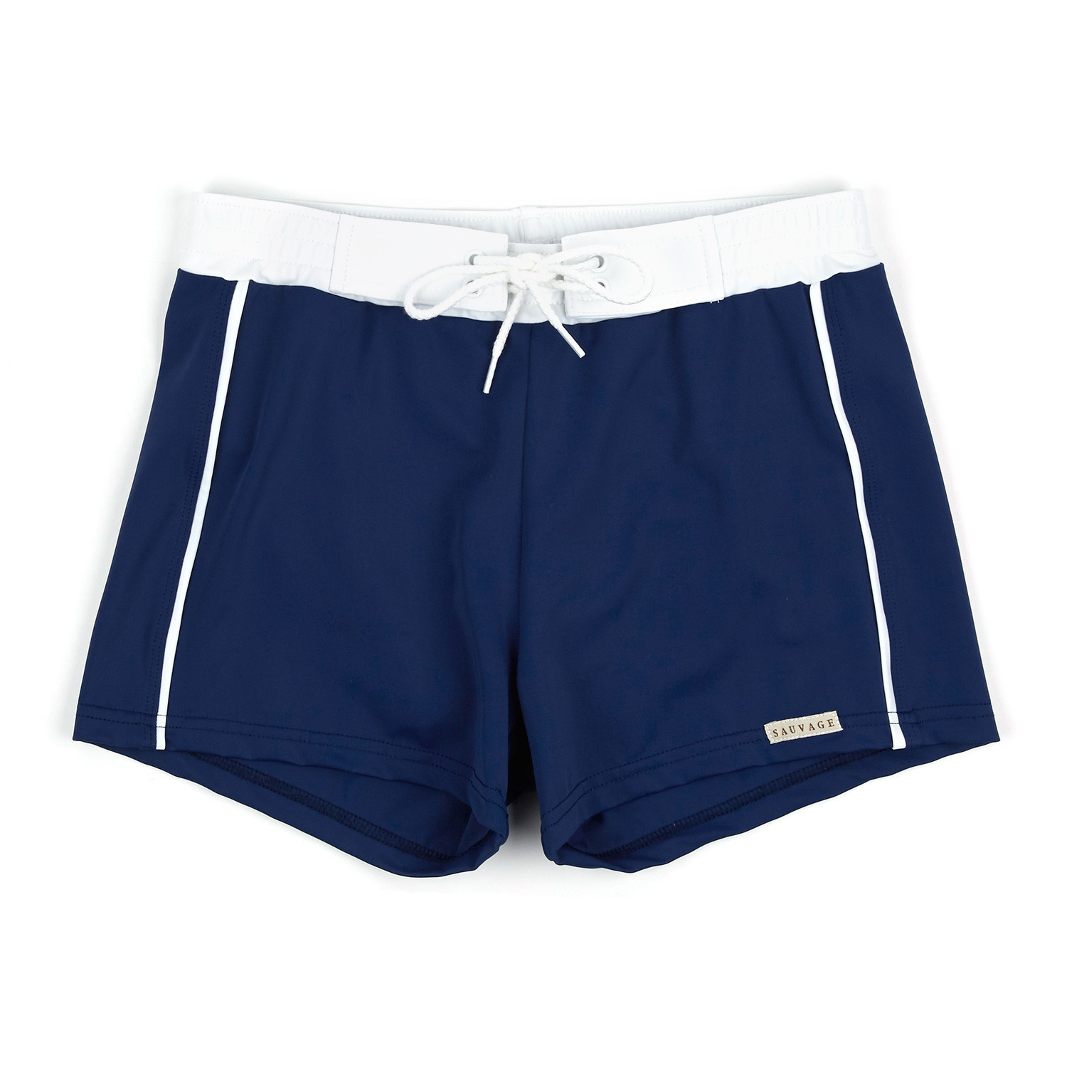 a9e38066a8 Banded Swim Short // Navy (S) - Sauvage Swimwear - Touch of Modern