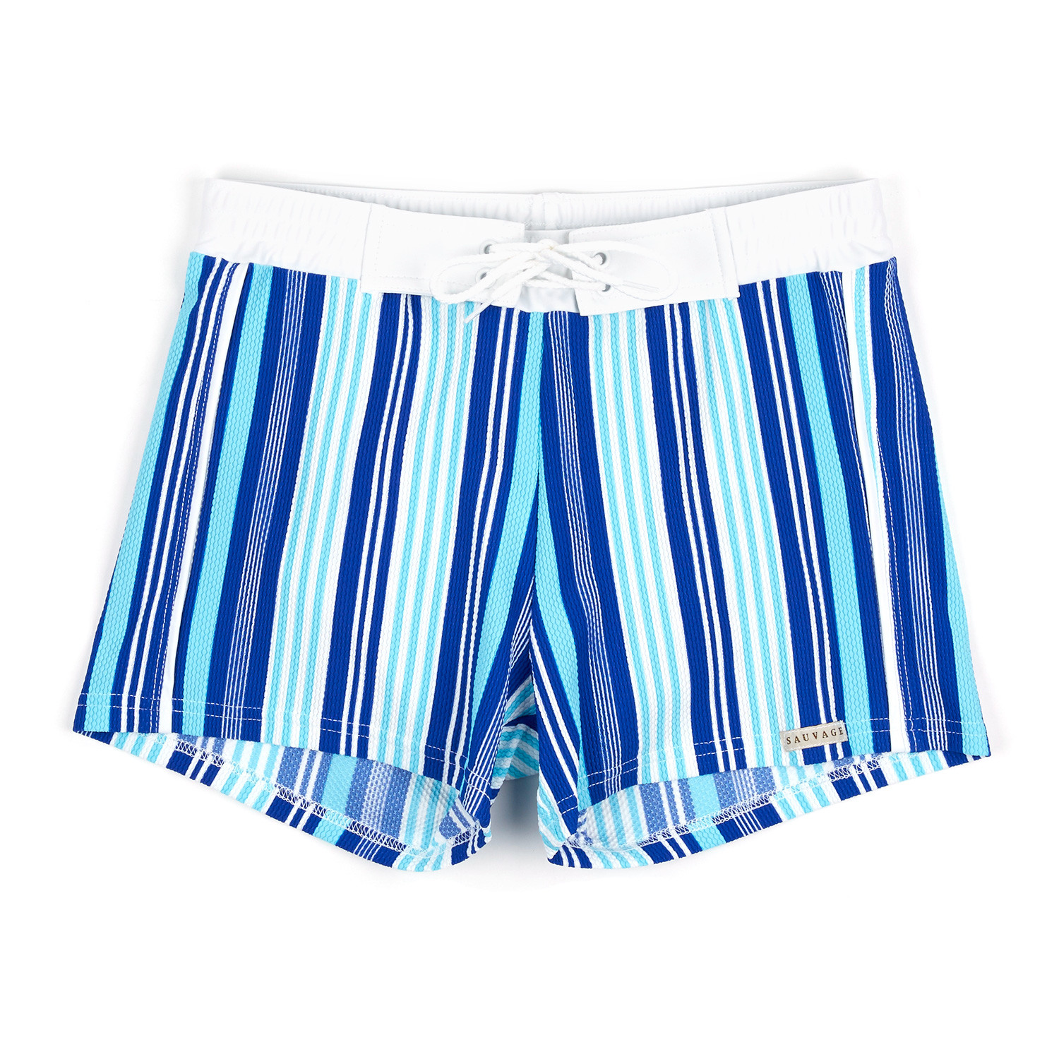 e752c55f51 Banded Swim Short // Blue (S) - Sauvage Wear - Touch of Modern