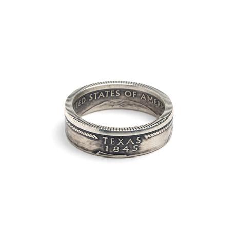 Silver Quarter Coin Ring // Texas (Size 5)