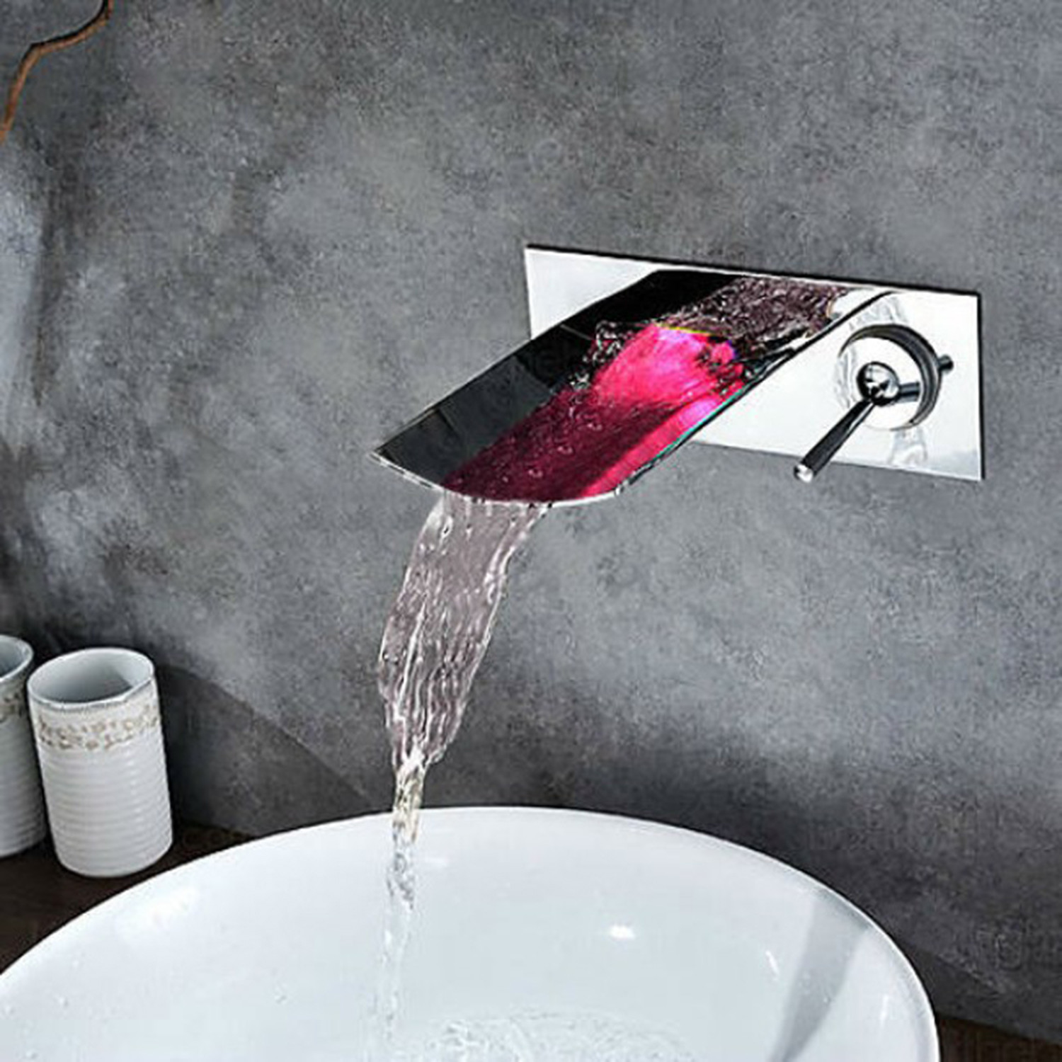 contemporary bathroom sink faucet junoshowers touch of. Black Bedroom Furniture Sets. Home Design Ideas