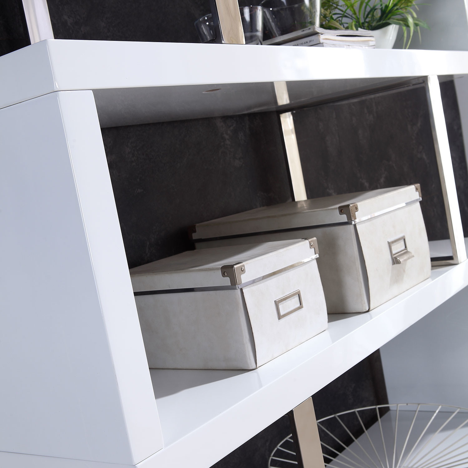 Scala Collection // Bookcase (High Gloss White