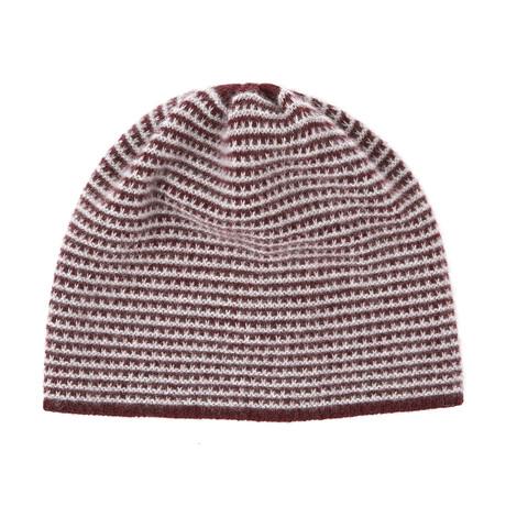 1fc4a9e6bde 35c053d8e732eedfadeff44a8abdea49 medium · Cashmere Beanie Hat    2 Tone  (Bordeaux + Light Heather Grey)