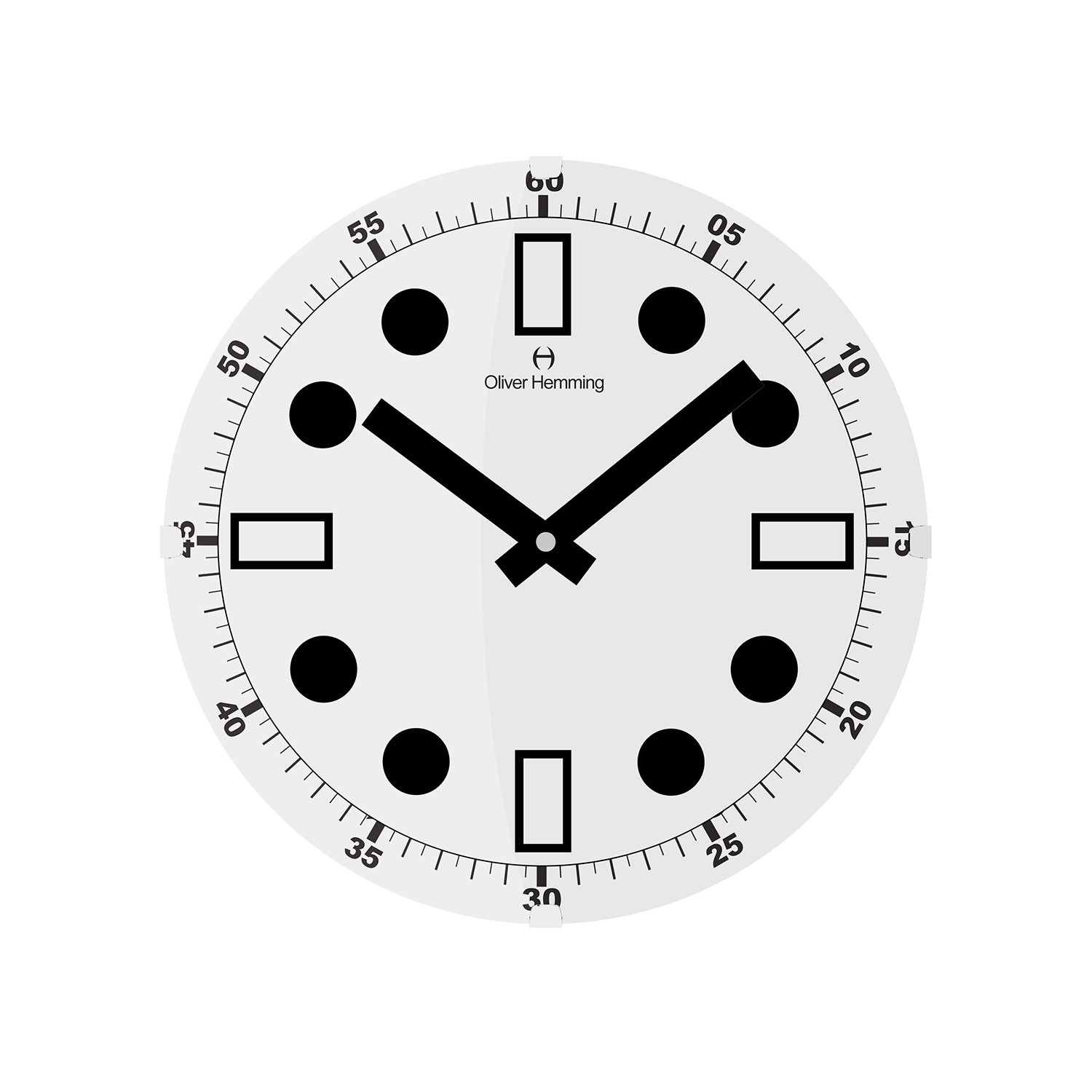 Vitri collection 12 wall clock w300dg44w oliver for Touch of modern clock
