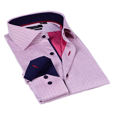 Classic Dress Shirt // Red + Navy