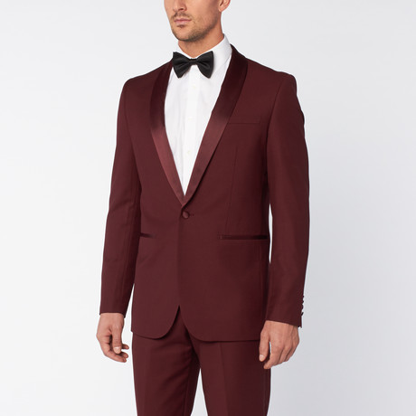 Runway Slim Fit Tuxedo // Burgundy (US: 36S)
