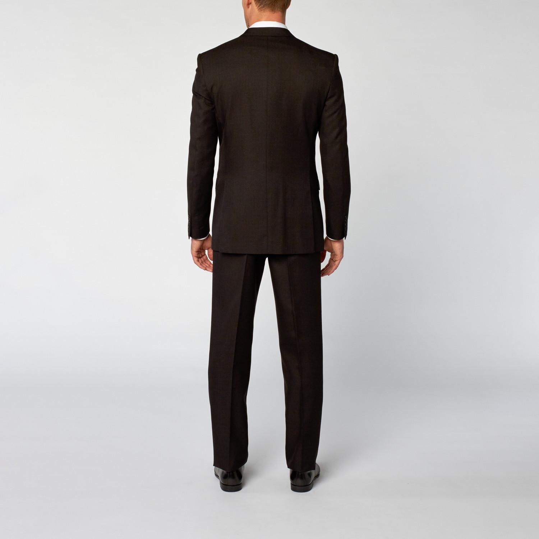 Accessories modern fit shark skin 3 piece suit black us 40s