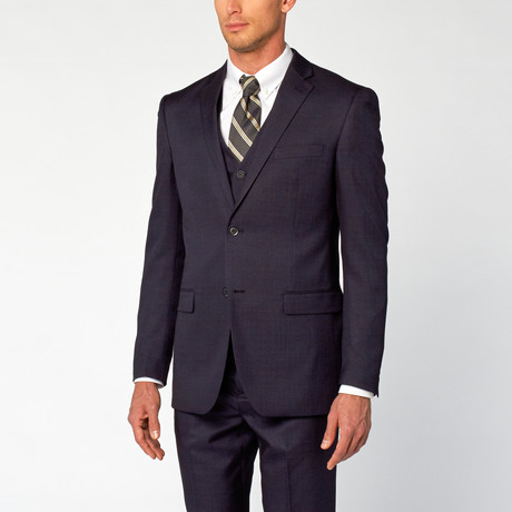 Modern Fit Shark Skin 3-Piece Suit // Navy (US: 36S)