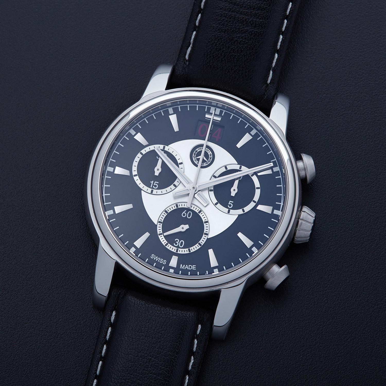 Mercedes Benz Chronograph Swiss Made Men`s Watch / Black ... |Mercedes Benz Chrono Watches