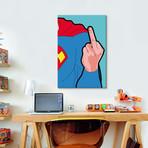"""Super-Finger // Gregoire """"Leon"""" Guillemin (26""""H x 18""""W x 0.75""""D)"""
