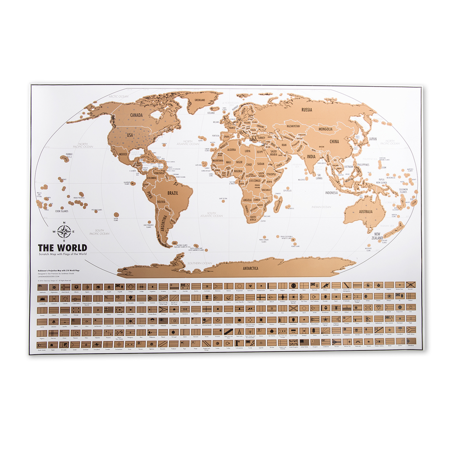 Travel Tracker Map Landmass Goods Touch Of Modern - Where have you been travel map