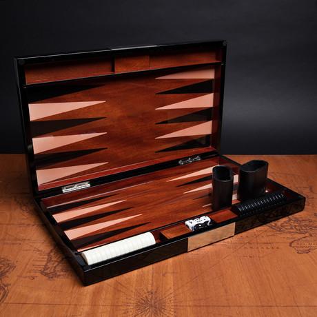 Backgammon Set // Black Lacquer