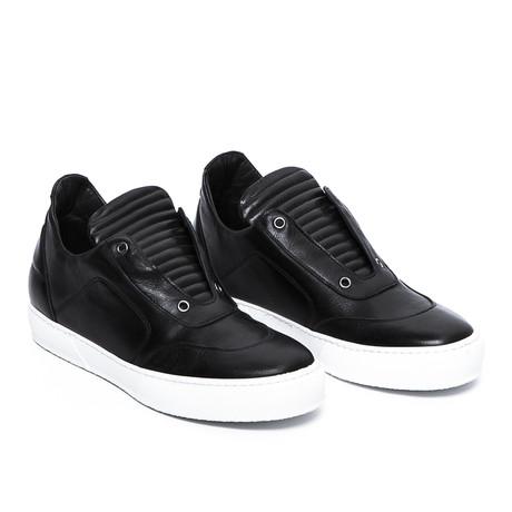 Apollo Low-Top Sneaker // Black + White Sole