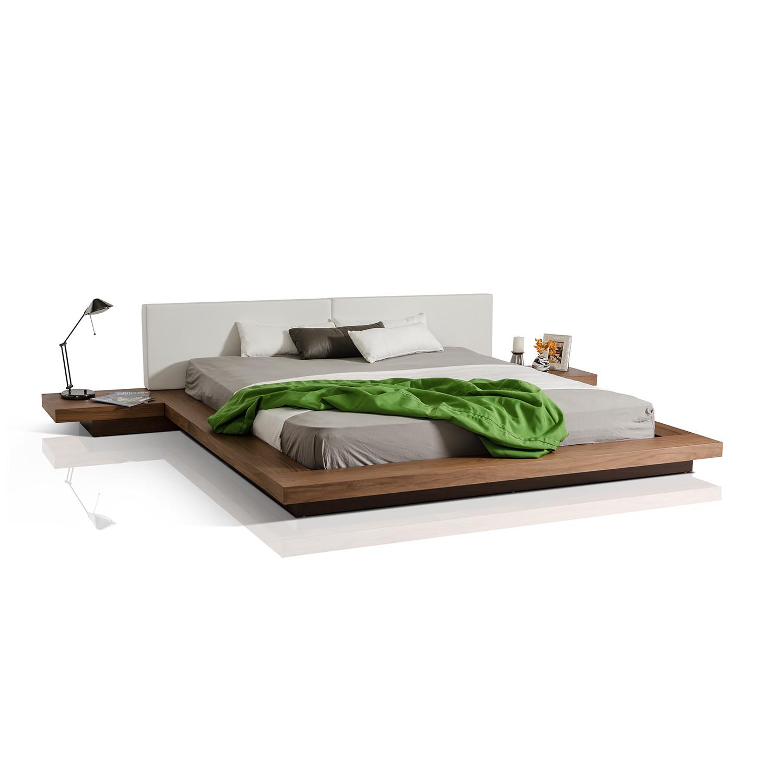 modrest opal modern low profile platform bed walnut. Black Bedroom Furniture Sets. Home Design Ideas