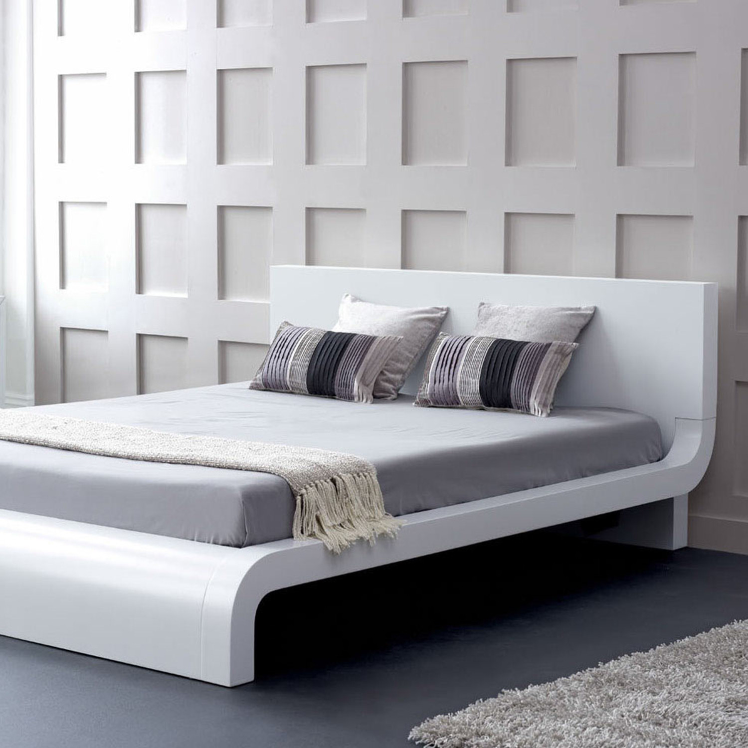 Picture of: Modrest Roma Modern Platform Bed Queen Vig Furniture Touch Of Modern