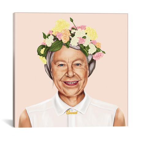 """Queen Elizabeth (18""""W x 18""""H x 0.75""""D)"""