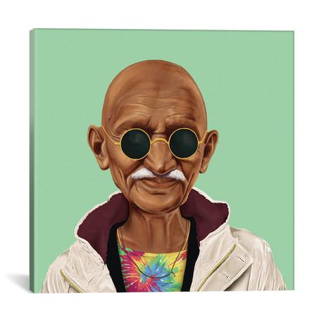"""Mahatma Gandhi // Amit Shimoni (18""""W x 18""""H x 0.75""""D)"""