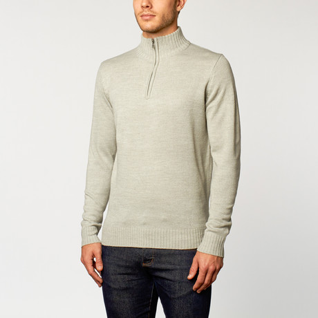 Quarter-Zip Sweater // Light Grey (S)