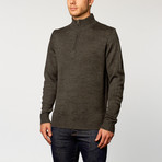Quarter-Zip Sweater // Dark Grey (S)