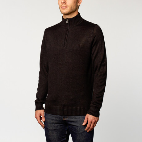 Quarter-Zip Sweater // Black (S)