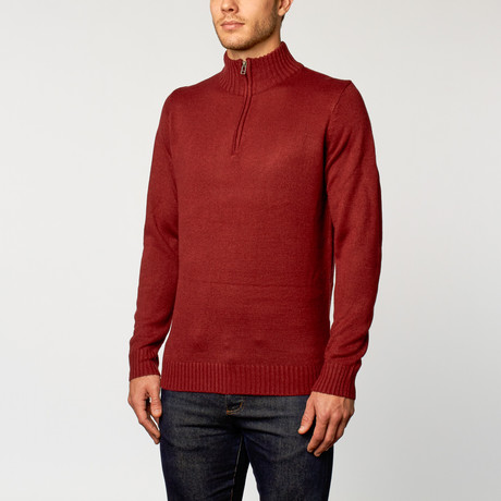 Quarter-Zip Sweater // Red (S)
