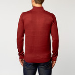 Quarter-Zip Sweater // Red (S)