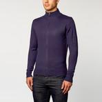 Long Sleeve Zip Sweater // Navy (S)