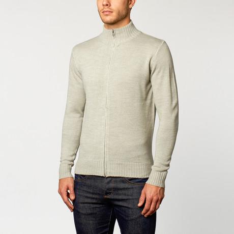 Longsleeve Slim Fit Sweater // Light Grey