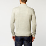 Long Sleeve Zip Sweater // Light Grey (S)