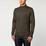 Long Sleeve Zip Sweater // Dark Grey (S)
