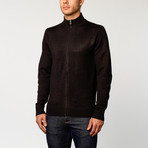 Long Sleeve Zip Sweater // Black (S)